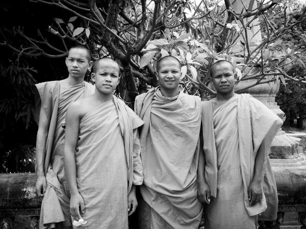 Monks at Wat Bo, Siem Reap