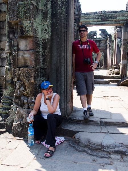 My Angkor Companions - Christine and João
