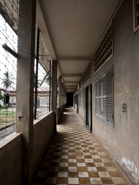 Corridor of what formerly was a school