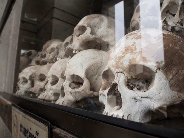 Victims of the Khmer Rouge. Choeung Ek Killing Fields