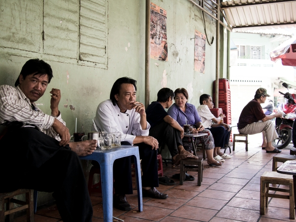 Coffee, Small Stools, Cigarette and Small Chat... That's Vietnam for You