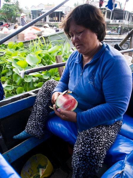 Where She Got All Her Fruits, I Have No Idea but You will Never Go Hungry on Ms.Phuong's Boat!