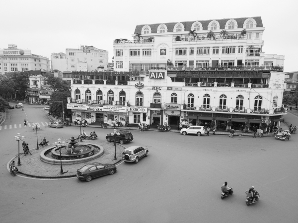 The Chaotic Roundabout In Hanoi, On A Quieter Time