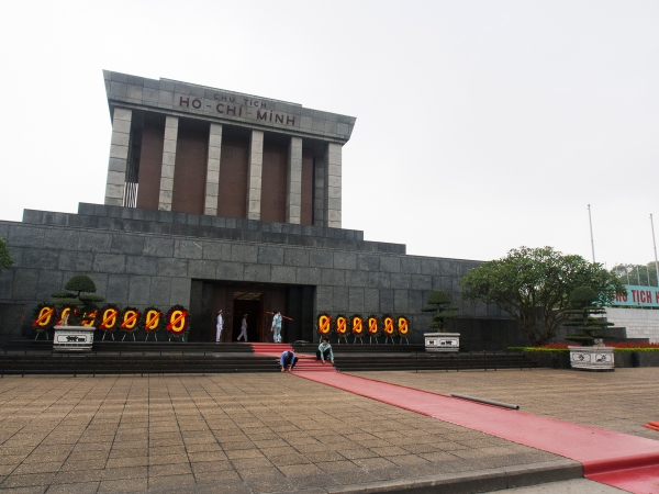 """Oh Uncle Ho, You Are One Hard Man To Find!"" Arriving  At The Ho Chi Minh Mausoleum During Closing Time"