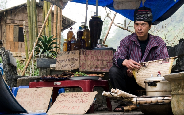 Street Vendor at Cat Cat Village, Sapa